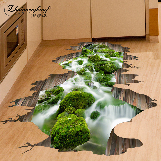 Zhuimenglong 2017 3D Stickers Footprint DIY Creative Living ...