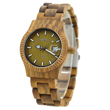 Top Luxury Brand BEWELL Wooden Watch Japan Quartz Movement Man Wrist Watch Hands Calendar Water Resistance Watch ZS-064A
