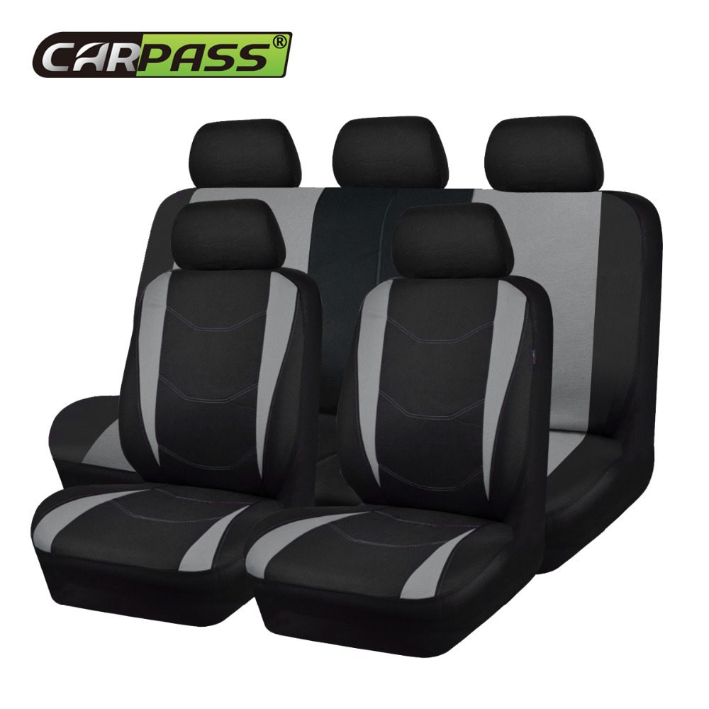 Car-pass Car Seat Covers Universal Fit Most Vehicle Car Seat Protector Auto Car Styling Gray Blue Red For Toyota Honda kia ford