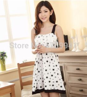 2017 new open sexy lingerie underwear exposed chest and back new style specially designed nightgown condole belt print dress