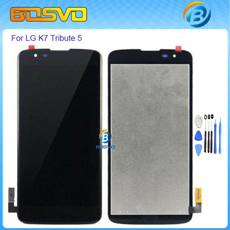 Подробнее о Original Replacement parts for LG K7 lcd display with touch screen digitizer assembly Tribute 5 LS675 MS330 X210 LCD black+tools black 5 0 inch replacement parts for lg k series k5 x220 x220mb x220ds full lcd display touch screen digitizer assembly