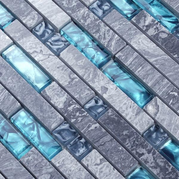 Ocean Blue Natural Stone Glass Brick Bathroom Tile Wholesale - Bathroom tile wholesale prices