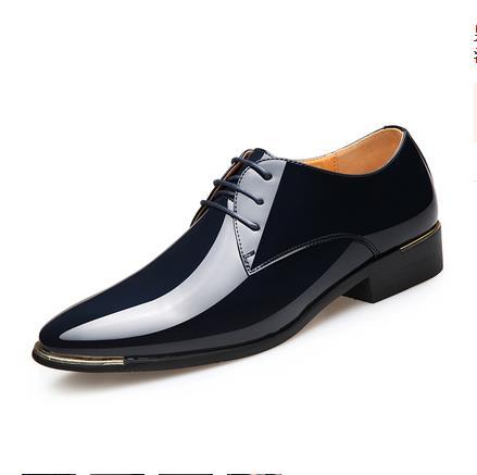 2018 Brillante Hombres Nuevo Otoño Señaló azul Negocio Versión Vestido Los Real Zapatos Boutique blanco Casual De Británica Corea Guapo Negro vino Libre Tinto rdqwtXr