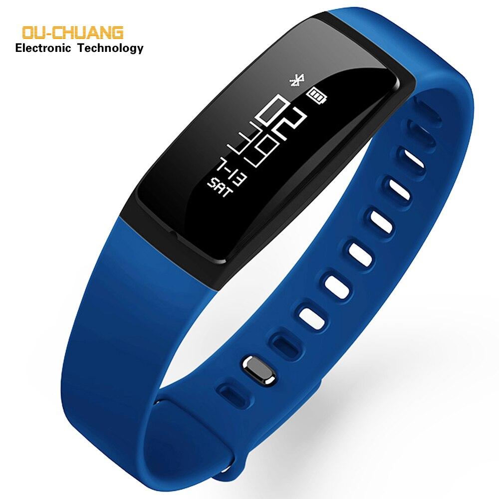V07 крови Давление часы браслет монитор cardiaco relogios montre трекер кардиоупражнений IP67 Smart Watch Sport Фитнес трекер