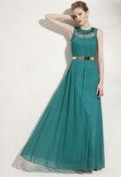 Gratis verzending! mode vrouwen elegante losse effen kleur ultra lange een stuk volledige jurk