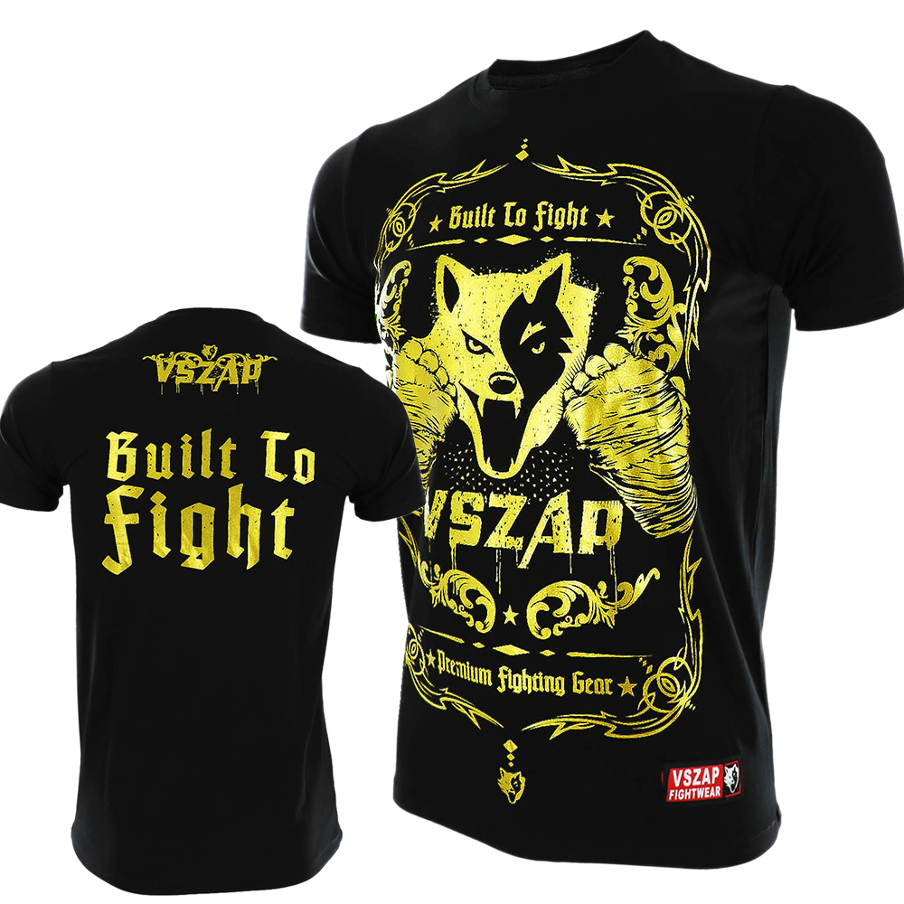 VSZAP T Shirt Men MMA Clothing Tee Fight Tops Bullet To Fight