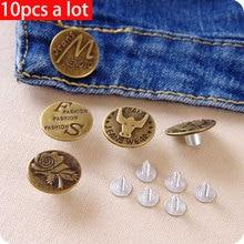 10 uds/vanzlife nostálgico abotonado cobre abrigo botón redondo creativo jeans abotonado ropa botón hombres y mujeres pantalones hebilla