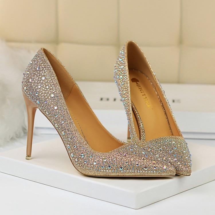 Pink Heels For Wedding: Bigtree High Heels Women Dress Shoes Fashion White Wedding