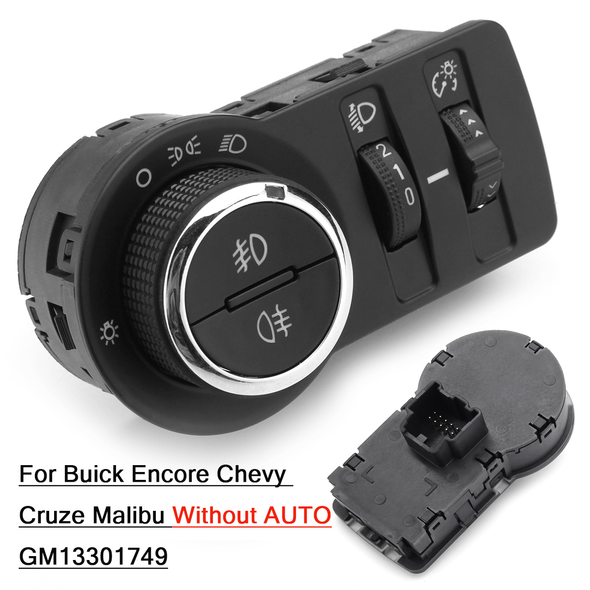 GM13301749 Car Fog Lamp Headlight Switch Button Without AUTO for Chevrolet Cruze J300 1.4 1.6 1.7 Chevy-in Car Switches & Relays from Automobiles & Motorcycles