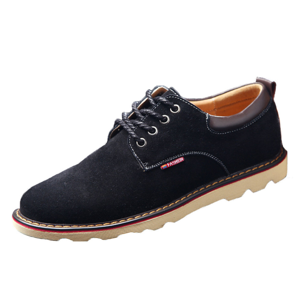 купить 30% OFF  New Hot Sale Spring Autumn Fashion Men Shoes Mens Flats Casual Suede Shoes Comfortable Breathable Flats Driving Loafers онлайн
