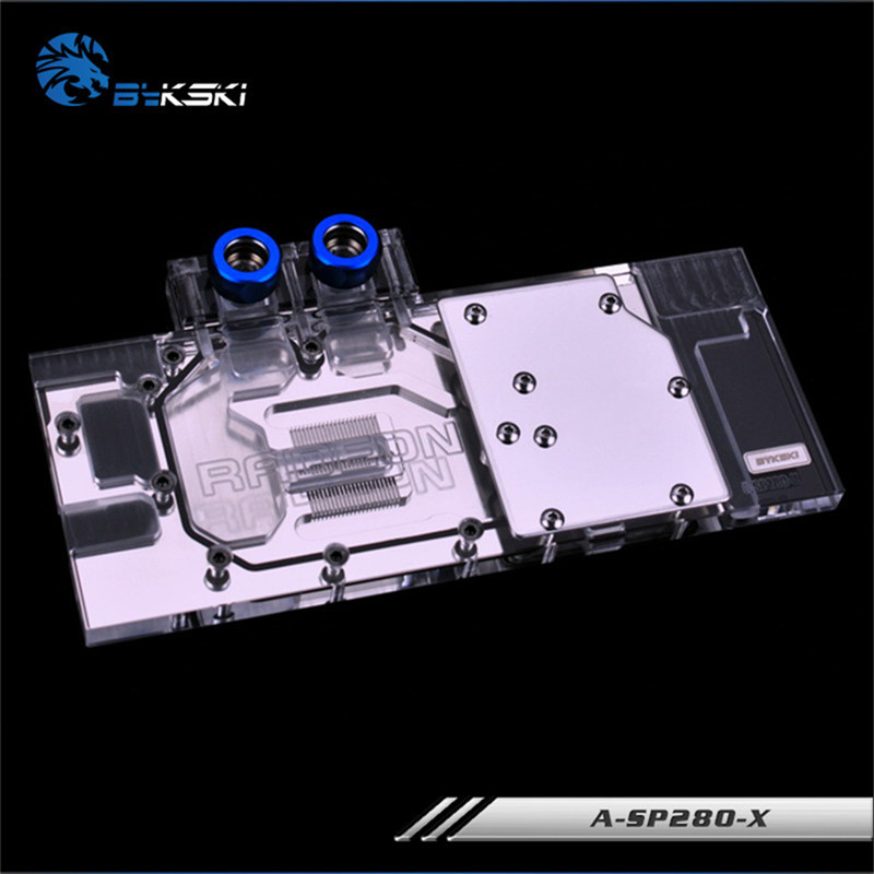 US $96 62 |Bykski Full Coverage GPU Water Block For Sapphire R9 280X HD7970  6G VXOC Graphics Card A SP280 X-in Fans & Cooling from Computer & Office