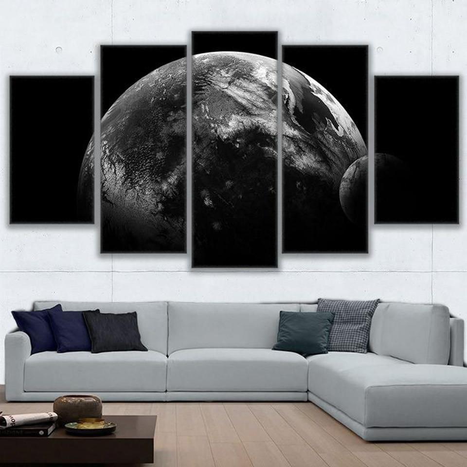 Pintura Da Lona Arte Da Parede Quadro Home Decor 5 Pe A Darth Terra  -> Quadro De Parede Para Sala Abstrato
