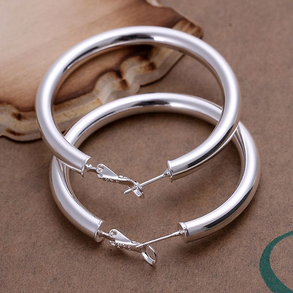 Free Shipping Lowest Price Whole For Women S Silver Plated Earrings 925 Fashion Jewelry Hollow Hoop Se149 In From