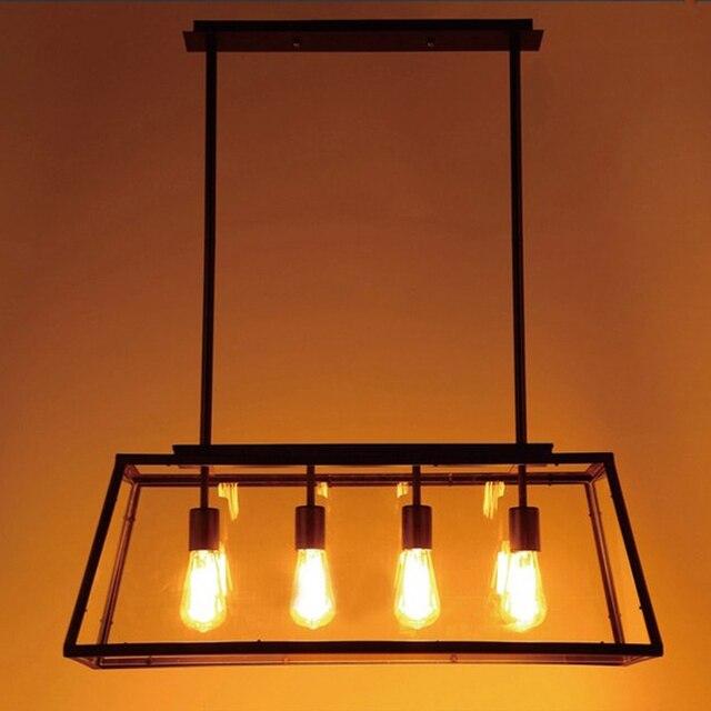 black vintage industrial pendant light loft style lights Creative ...
