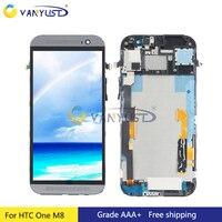 Per HTC One M8 Display Lcd Touch Screen Digitizer Assembly Dual & Sim Cornice del Rimontaggio Spedizione gratuita