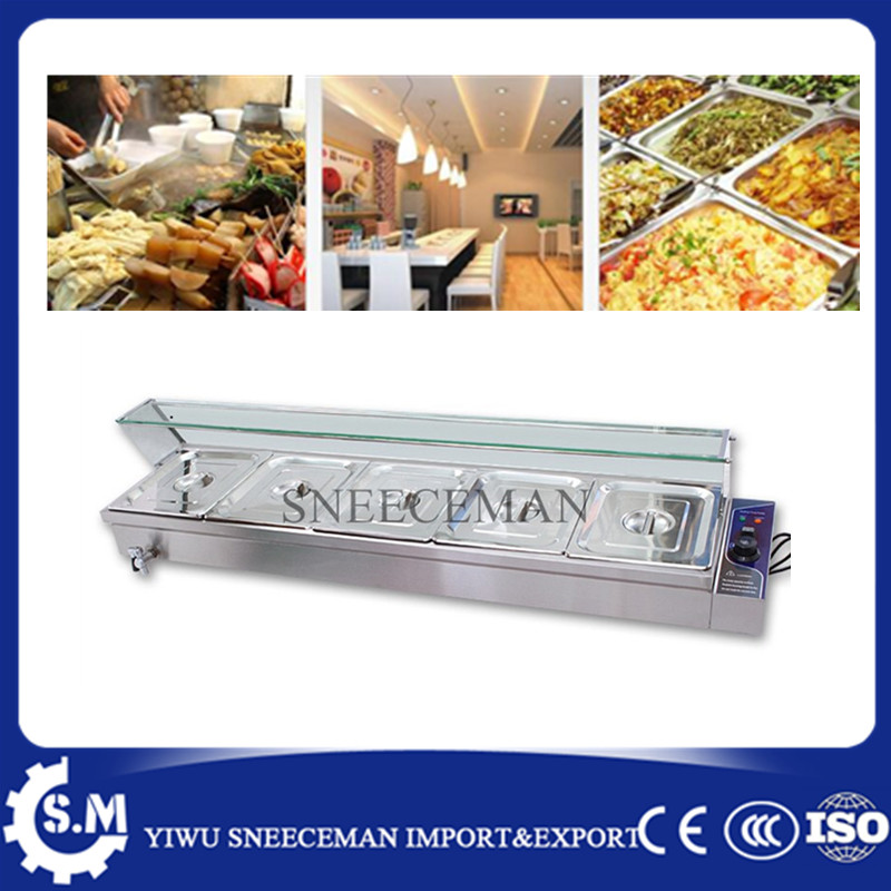 5pans lectric Stainless Steel Hot Food Warmer Buffet Server Bain Marie Kitchen Equipment