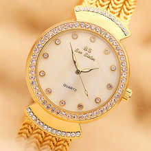 New hot sale gold and silver round no digital rhinestone scale dial ladies watch high-end bracelet watch women's watch все цены