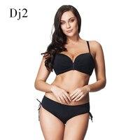 2017 New Folds Plus Size Swimwear Women High Waist Swimsuit Plus Size Bikini Push Up Sexy