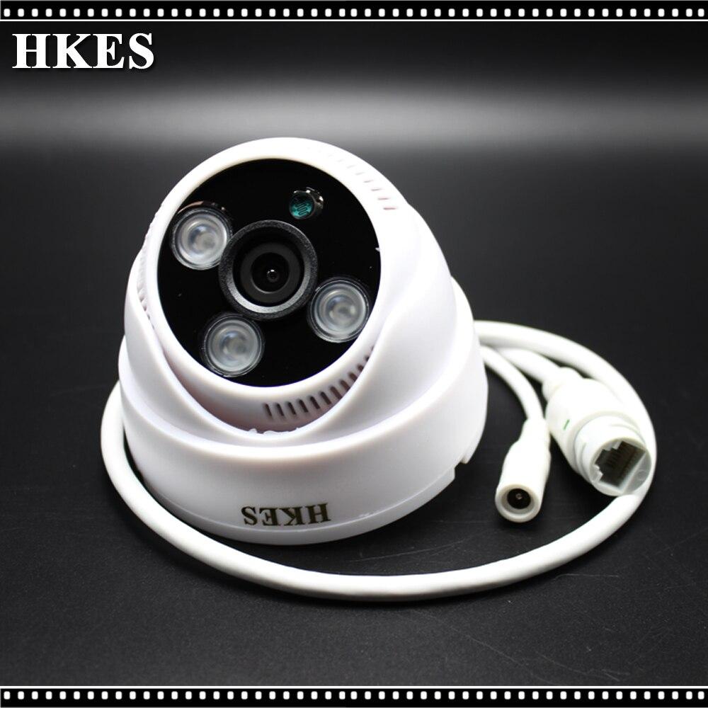 HKES 1920*1080P 2.0MP Dome IP Camera IR Indoor Security ONVIF 2.0 Night Vision P2P IP Cam IR Cut Filter Megapixel Lens