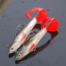 2017 جديد 1 قطعة لينة الصيد إغراء طعم سمك هوك تهزهز الأسماك ذيل واحد الطعم Pesca Isca الاصطناعي الصيد معالجة Wobblers 90 مللي متر 9.6 جرام