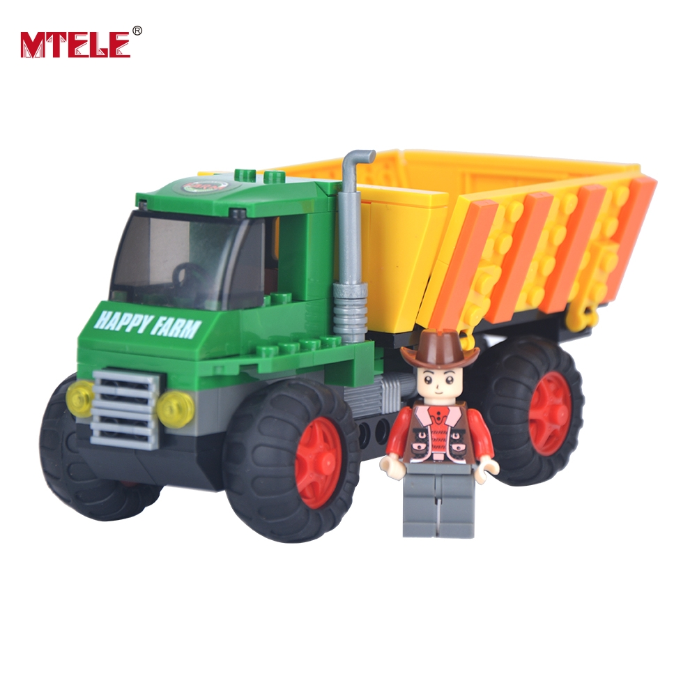 ФОТО MTELE Brand Harvester Model Building Block Set 656 Pcs Construction Brick High Quality Toy Compatible with lego