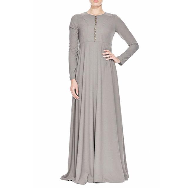 2015New Llegada Islámico Turco Malasia abayas en Dubai Musulmana vestido largo para Las Mujeres de las señoras ropa de alta calidad a largo vestido KJ