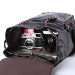 Image 4 - MOYYI célèbre marque école Style sac à dos en cuir sac pour collège conception Simple hommes imperméable décontracté Daypacks mochila 2019