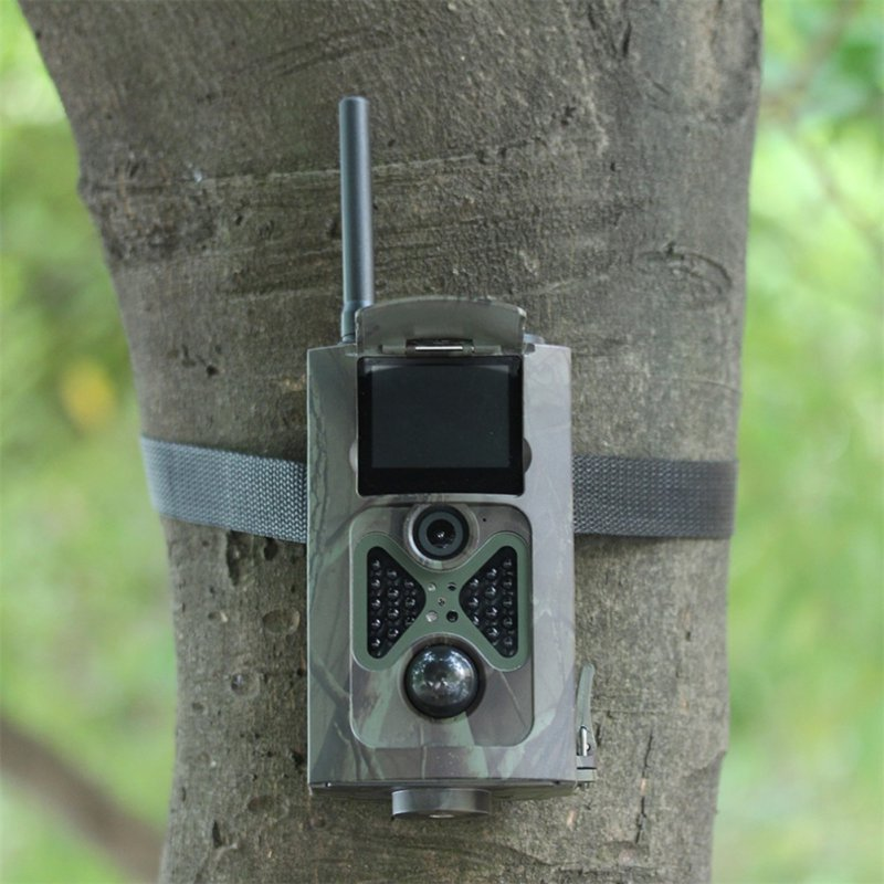 WildlifeHC500M HD 12MP Trail Camera GSM MMS GPRS SMS Control Scouting Infrared  Hunting Camera Hunting Accessories arduino atmega328p gboard 800 direct factory gsm gprs sim800 quad band development board 7v 23v with gsm gprs bt module
