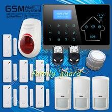 100 беспроводная сенсорная панель экрана + жк-дисплей внешний флэш-сирена GSM PSTN SMS главная охранной голос смарт APP сигнализации дома