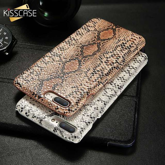 KISSCASE Sexy Snake Leather Case For iPhone 7 8 X XR XS Max Hard Plastic Back Cases For iPhone 7 6s 6 Plus 5s 5 SE Cover Funda