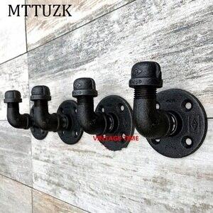 MTTUZK винтажная промышленная Паровая железная водопроводная труба, настенный халат, крючок, держатель для шляпы, вешалка для пальто, аксессуа...