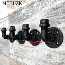MTTUZK Vintage plancha de vapor Industrial tubería de agua grifo manto de pared gancho sombrero Rack titular percha de la capa de la cocina y accesorios de baño