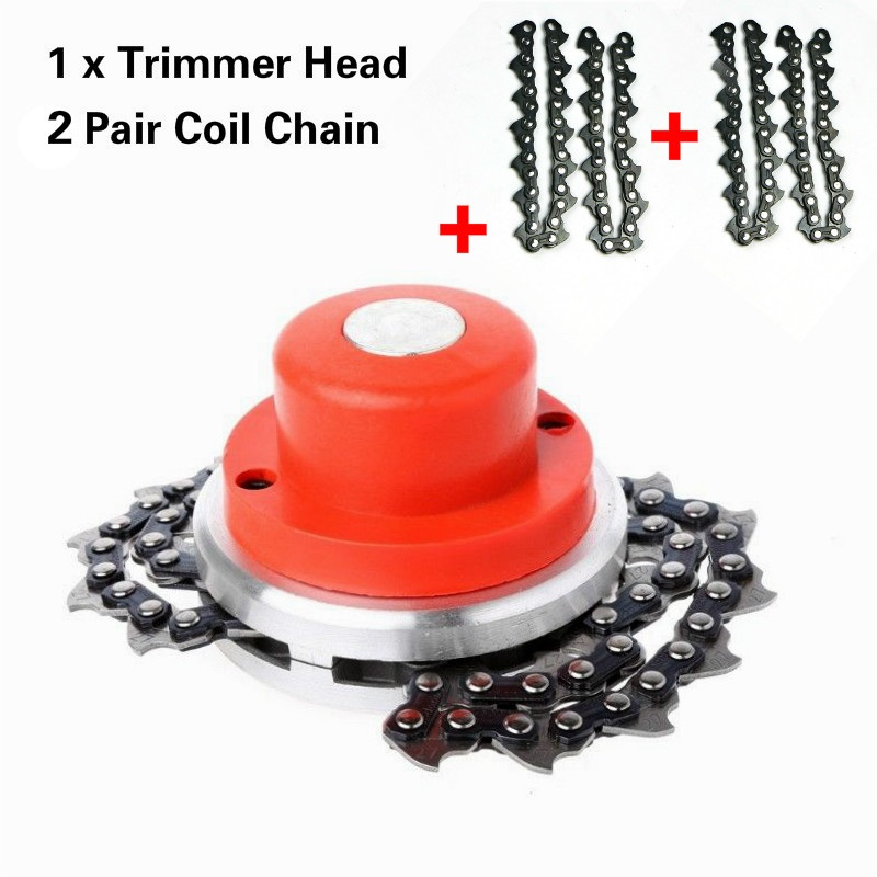 New Model RED/BLACK Chain Auto Bump Feed Head With Bonus Chain,trimmer Head,brush Cutter Nylon Cutter Replacement