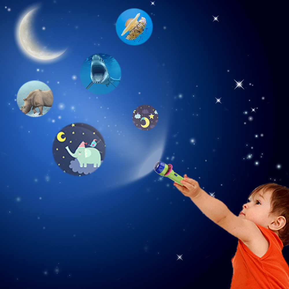 Baby Kids Projector Story Flashlight Kids Storybook Torch Baby HD Animation Cartoon Early Educational Toy Handed Projector Проектор