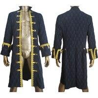 Unisex Pirates of the caribbean: Dead Men Tell No Tales Captain Hector Barbossa cosplay jacket coat halloween costume