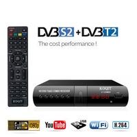 DVB T2 + DVB S2 TV Satellite Receiver Digital Tuner Set top box finder Youtube Free DVB T2 Receptor Internet Iptv m3u Combo Wifi