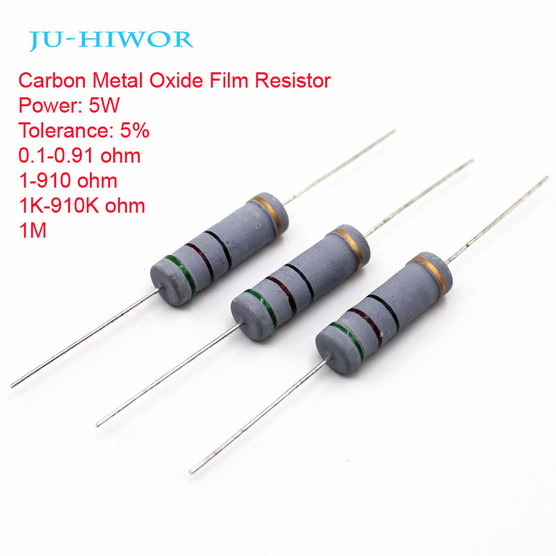 1 watt 5/% metal oxide power resistors 30K ohm 5 pack