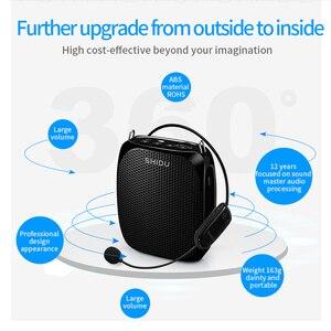 Image 2 - SHIDU S615 Ultra Wireless Voice Amplifier Portable UHF Mini Audio Speaker USB Lautsprecher For Teachers Tourrist Yoga Instructor