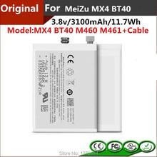 3100mAh 11 7Wh Original MX4 BT40 Battery For Meizu MX4 M460 M461 BT40 Mobile Phone MX