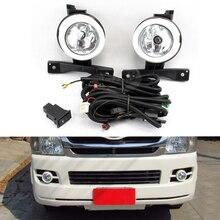 цена на Car Daytime Running Light DRL Fog lamp Assembly Kit For Toyota Hiace 2009 2010 2011 12V Front Bumper light Accessories Kit