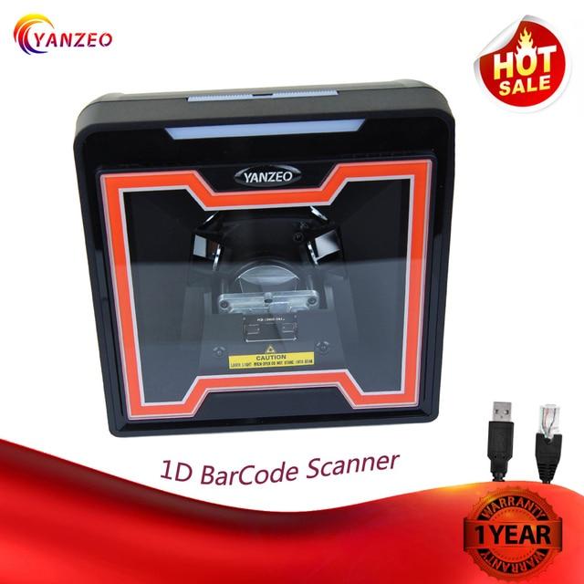 2D Image Flatbed Desktop Omnidirectional Bar Code Reader High Speed Automatic 1D Laser Barcode Scanner