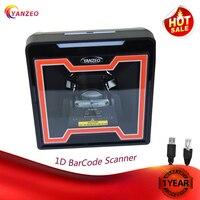 Laser Flatbed Desktop Omnidirectional Bar Code Reader High Speed Automatic 1D Laser Barcode Scanner Image
