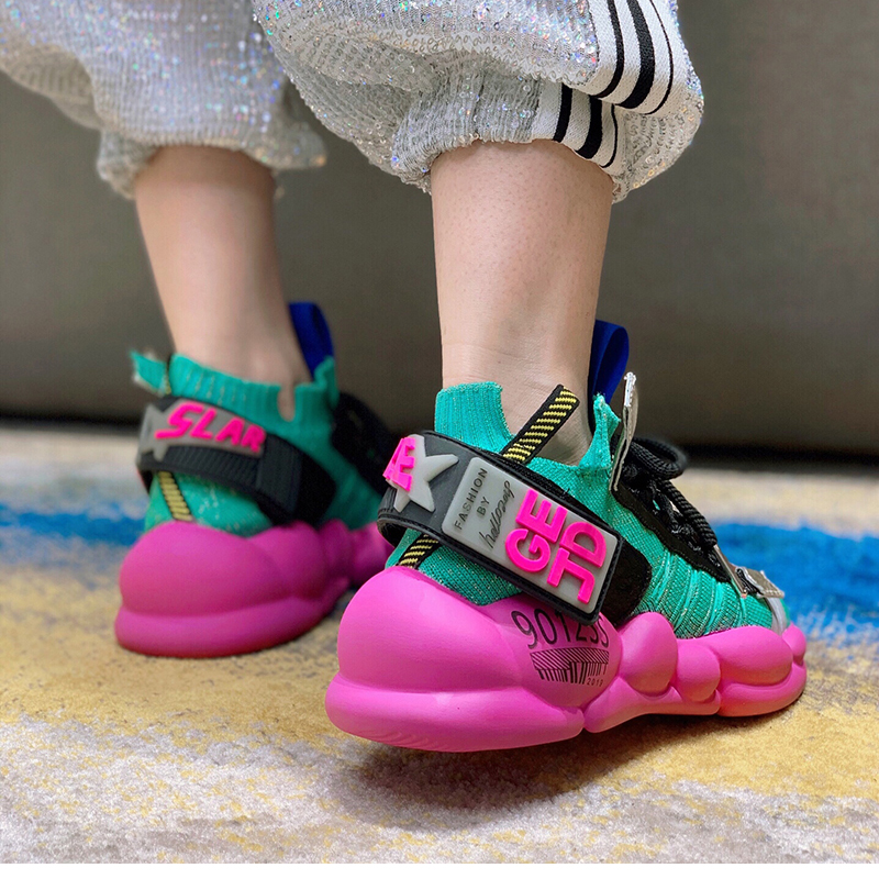 RY-RELAA femmes baskets chaussures de plateforme de mode de luxe femmes chaussures de marque chaussures bout pointu chaussures décontracté femmes chaussures de course