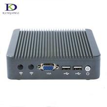 Большая Акция безвентиляторный мини-ПК двухъядерным Celeron J1800 NUC Intel до 2.58 ГГц настольный компьютер с vga 2 * lan Windows 7 tv box