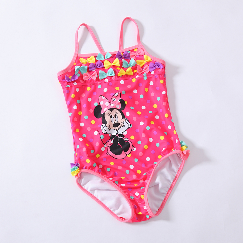 Retail Girls Minnie mouse One-Piece swimsuit  for children beach wear bathing suit summer swimming for 3-10 Year RT88 simba пупс minnie mouse
