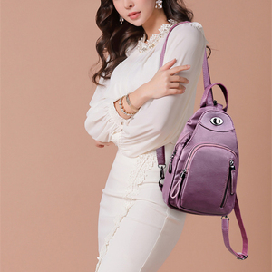 Image 2 - Casual Backpack Female Brand Leather Womens Backpack Designer Shoulder Bags for Women 2018 Travel Backbag Chest Bag Mochila