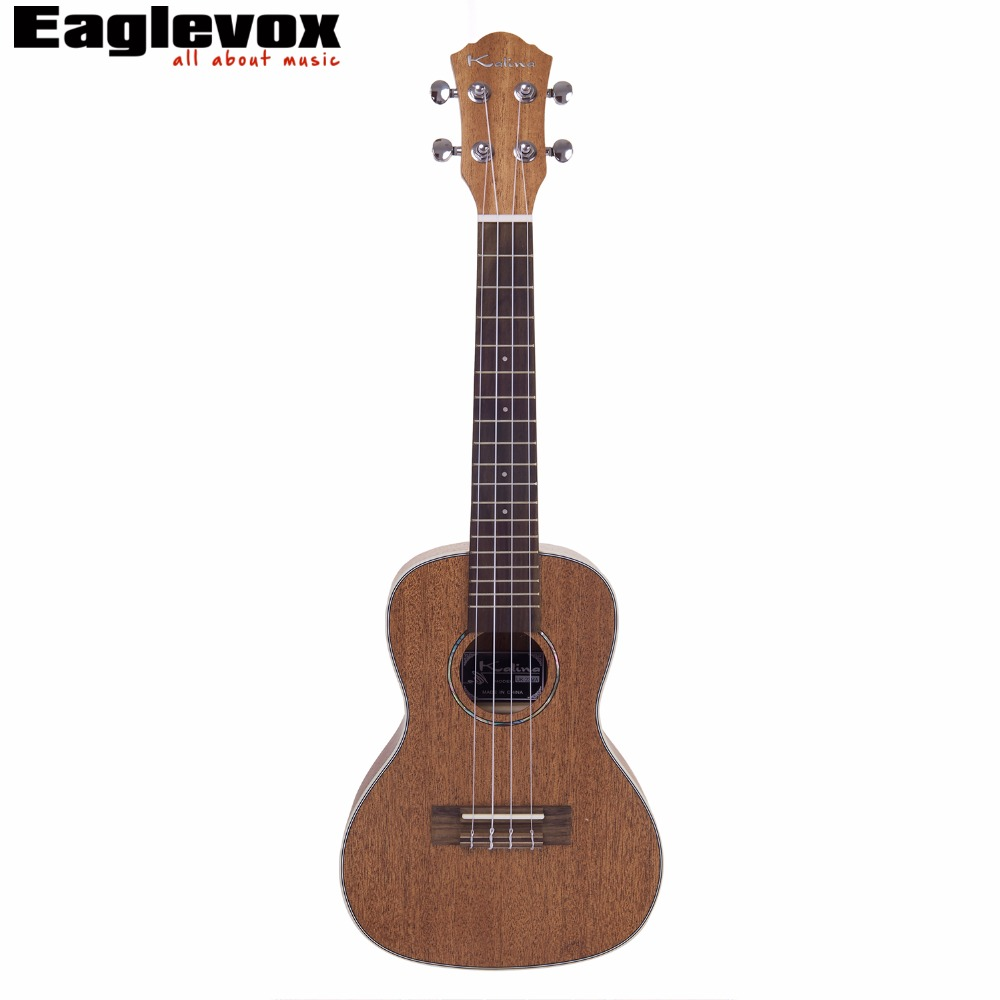 Kalina Solid Mahogany Concert Ukulele 23 inch Solid Mahogany Top Rosewood Fingerboard 4 Strings 18 Frets Hawaii guitar AM-UK23MA yuker 39 inch electric guitar 6 strings 22 frets high quality mahogany body rosewood fingerboard electric guitarra