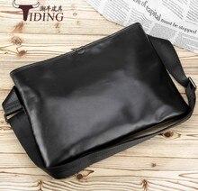 message bags for men 2018 genuine leather black brand brief casual business dress vintage fashion shoulder travel flap