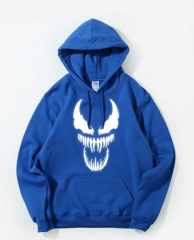 Venom Hoodie Männer Film Night Glow Mit Kapuze Sweatshirts Harajuku Mantel Frühling Herbst Fleece Licht Nachtleuchtende Streetwear Coole Hoody