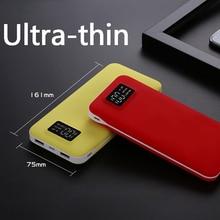 Ultra-thin power bank 20000mAh mobile power supply Digital LCD display universal Power bank smart phone charging For Huawei P10